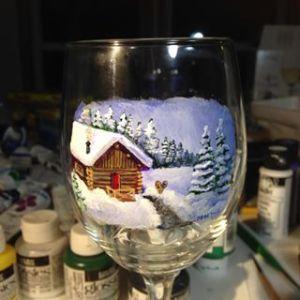 Winter Cabin Scene