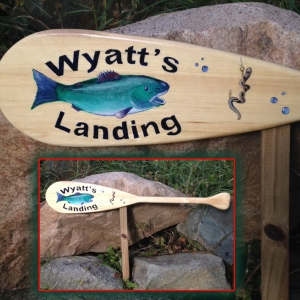 Paddle Sign for Garden